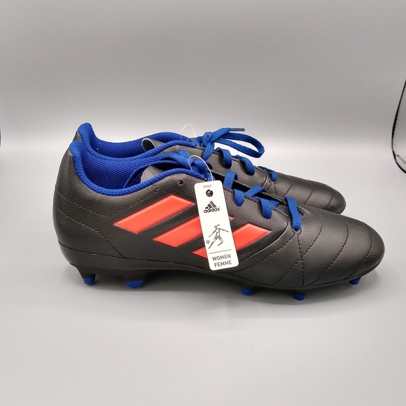 9cd40a500 Adidas Ace 17.4 FG Black Coral Blue Soccer Cleats